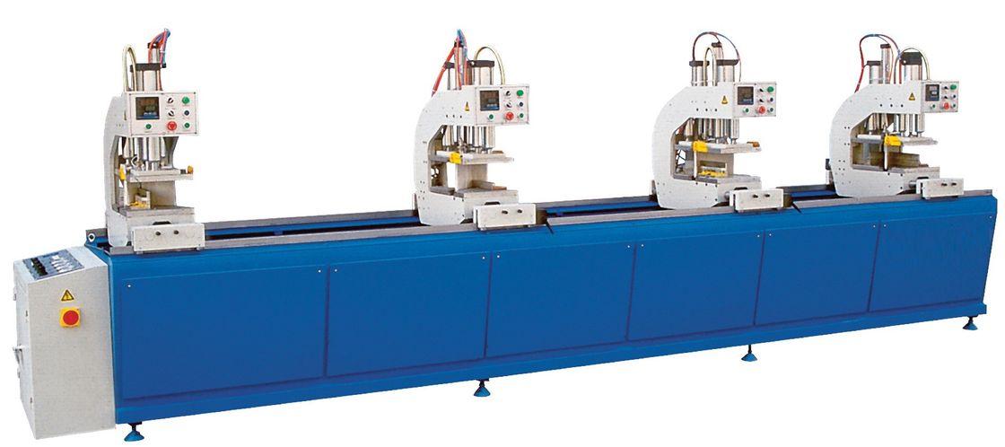Blue Auto UPVC Window and Door Machinery Four Head Welding Equipment