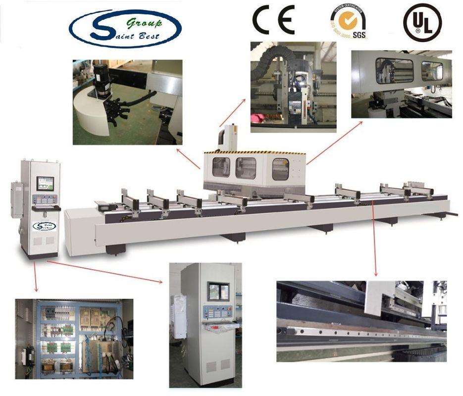 Digital Display Aluminium Window Machinery For Profile 3 Axis CNC Machining Center