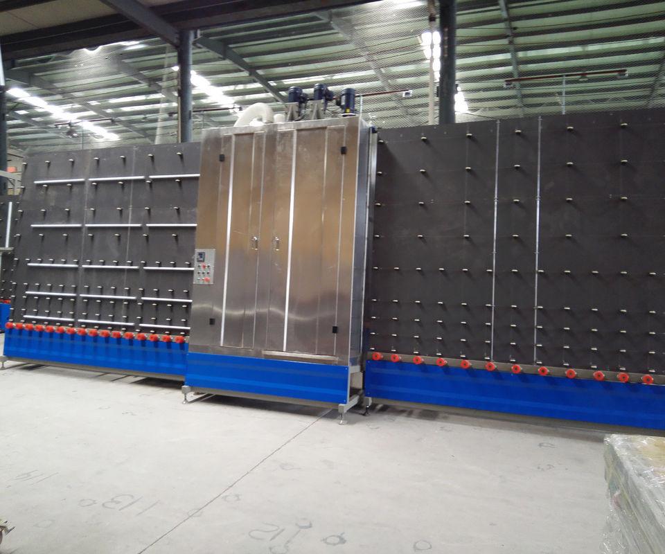 PLC Vertical Glass Washing Machine , automatic glass washer 2000x3000mm