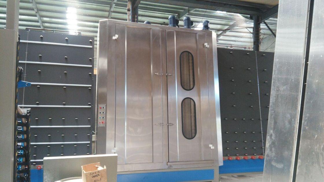 Stainless Steel Vertical industrial glass washing machines 2~7m / min Washing Speed
