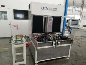 Single Head CNC Glass Corner Grinding Polishing Machine with Two Working Station,CNC Glass Corner Grinding Machine,Glass Corner CNC Edging Machine