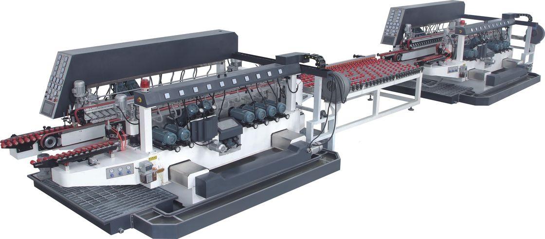 Full Automatic Straight Line Glass Edging Machine 20 Motors Customized