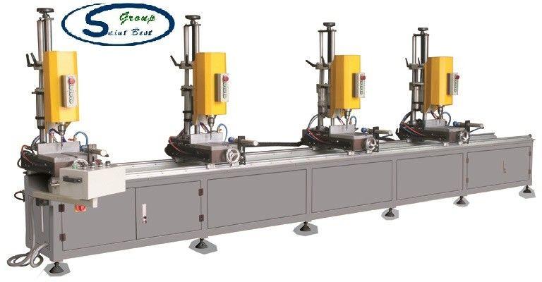 Aluminum Window Profile Four Spindle Drilling Machine / Aluminum Window Fabrication Machine