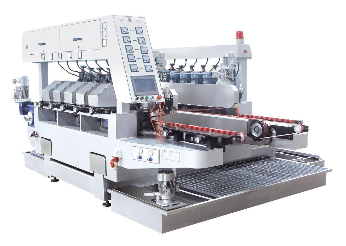 Ten Motors Double Edge Polishing Machine , Glass Grinding Machine White Color