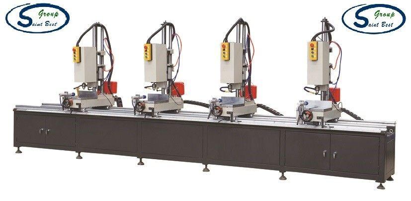 Four Head Aluminum Window Hole Drilling Machine / Multi Mitre Combination Drilling Machine
