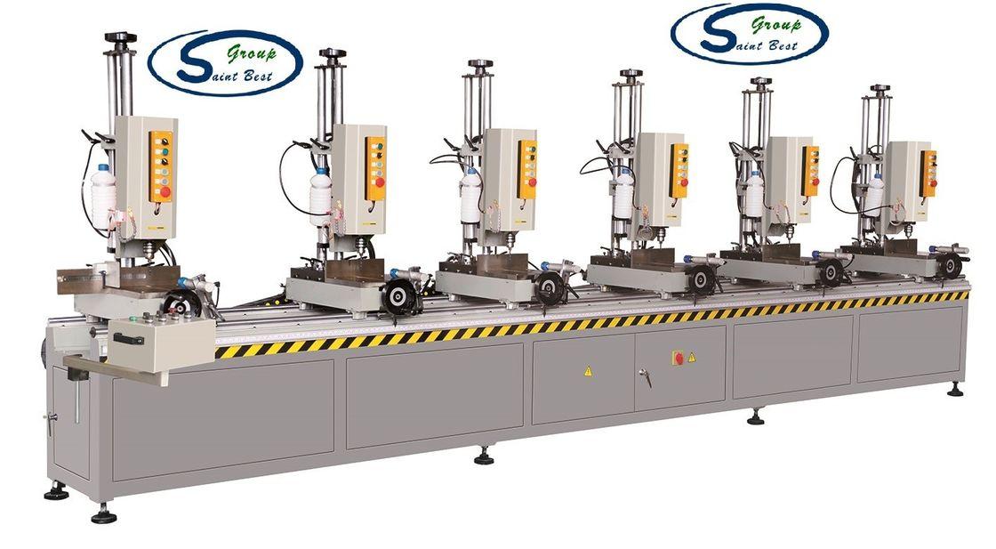 Aluminum Window Profile Six Head Drilling Machine / Aluminum Window Fabrication Equipment