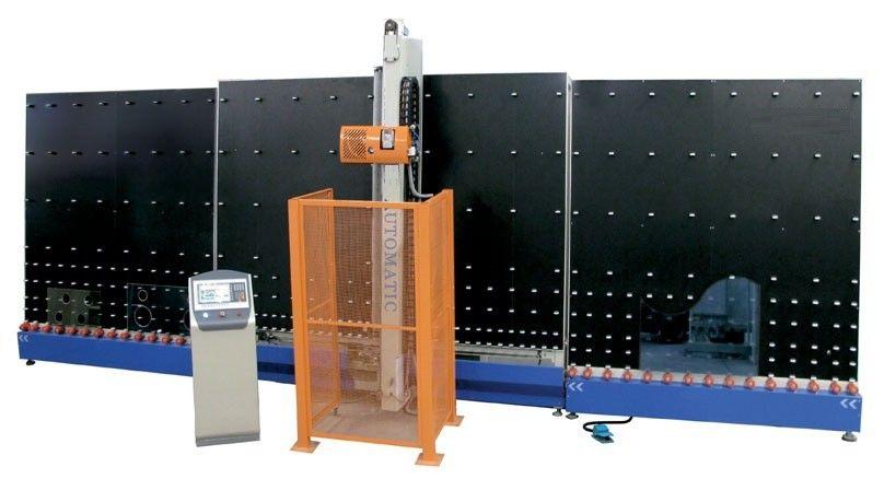 Automatic Vertical Double Glazing Equipment , Glass Edge Deleting Machine