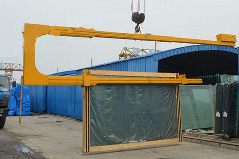 Safety Loading & Unloading U Shaped Glass Crane 3660mm Max Seaming Size