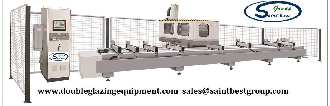 Auto Aluminium Window Machinery Curtain Wall Profile CNC Router 7000mm X Way Range